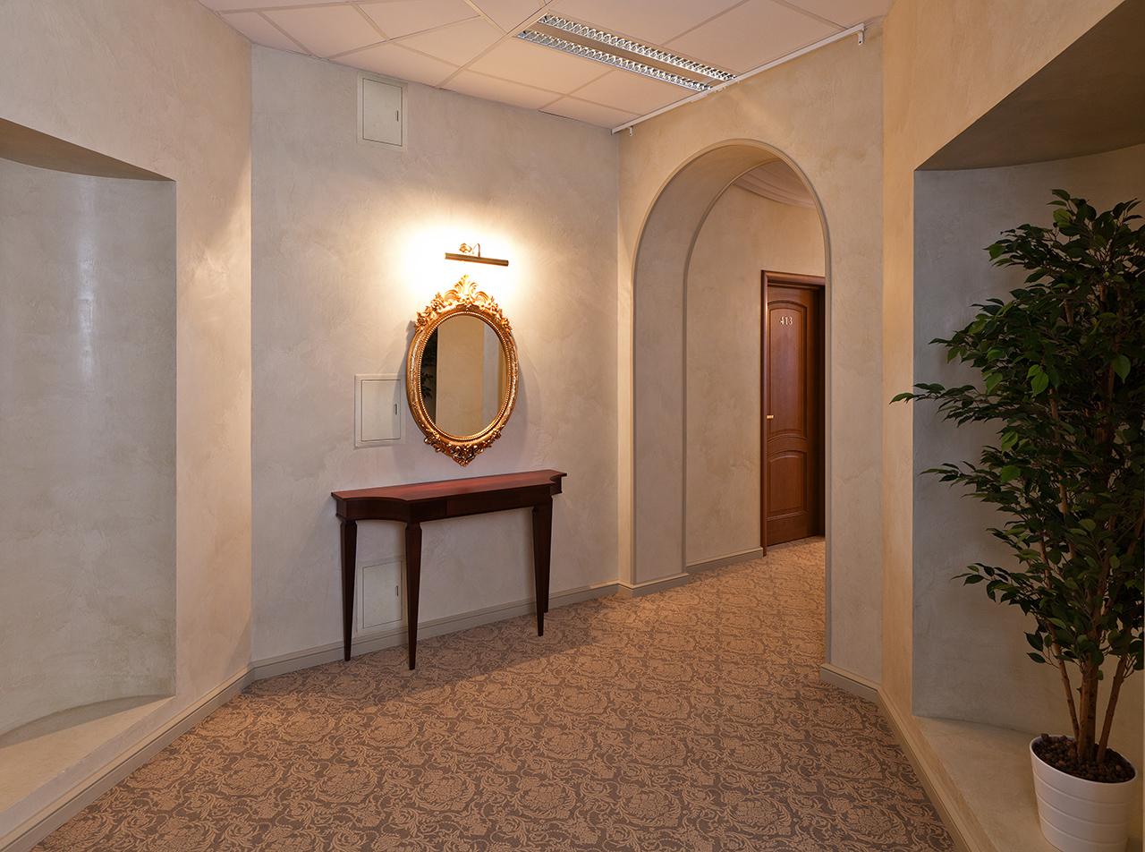 интерьер отеля - коридор