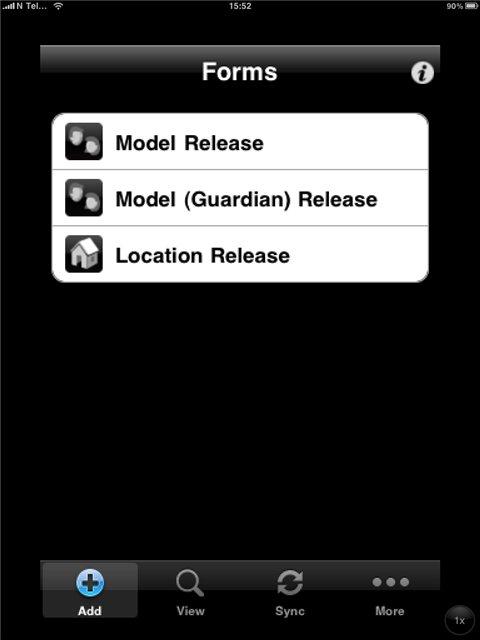 Расписка модели (model release) на ipad2