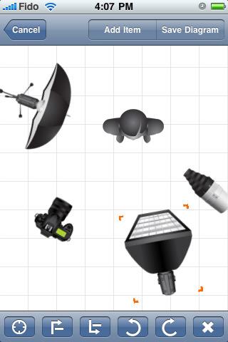 Схемы освещения на ipad2