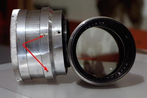 Юпитер-9 дальномерный на Nikon