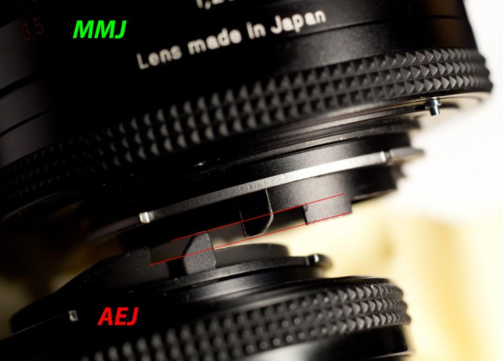 версия AE объектива CZ Planar 50 1.7 С/Y