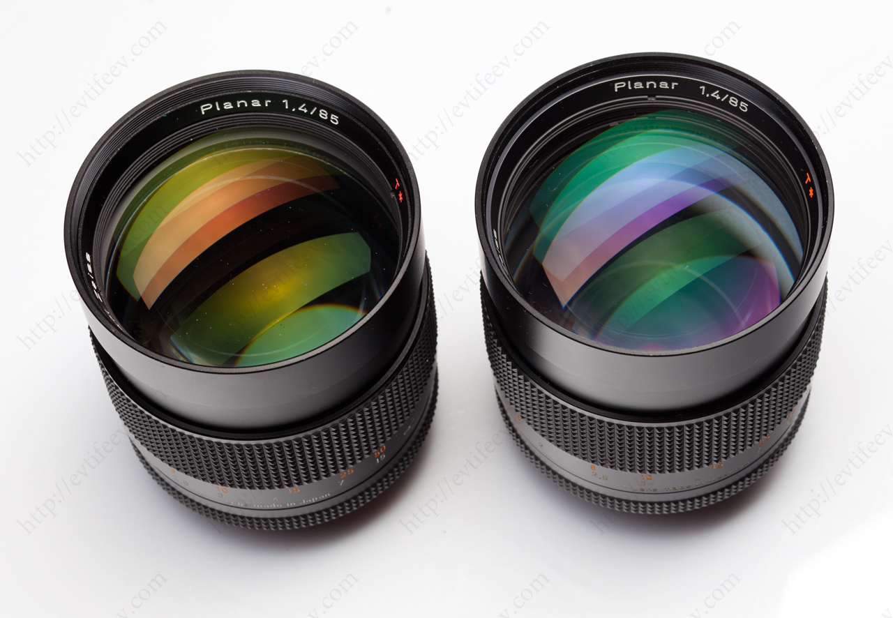 The lenses are not the same anyway. They have got the different coating.