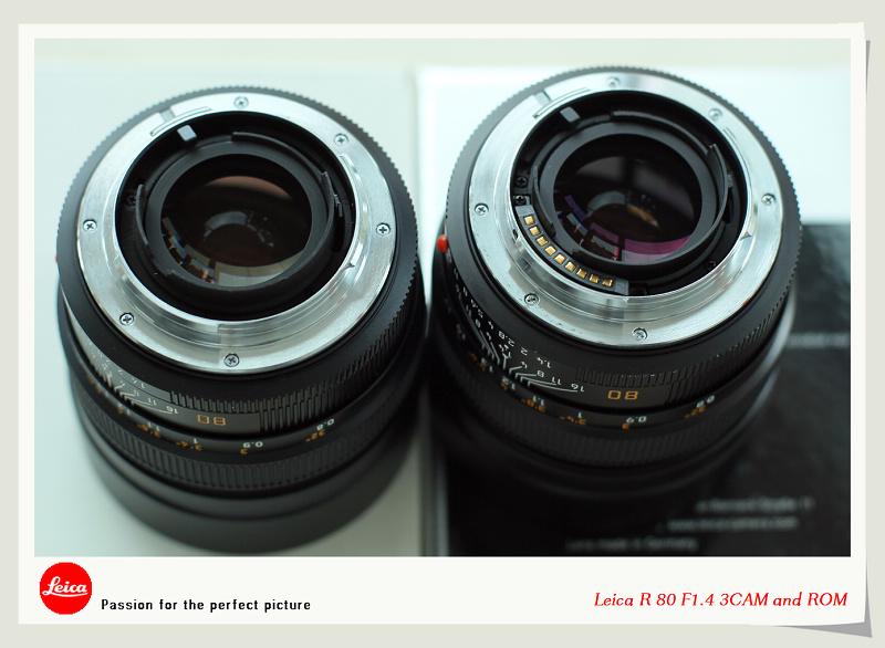 пример сравнения версий Leica Summilux-R 80/1.4 3CAM vs ROM
