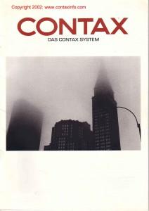 брошюра по системе Zeiss / Contax 1994г.