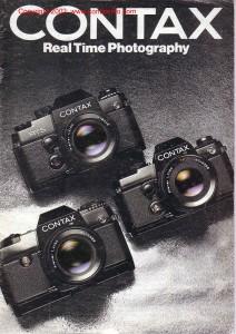 брошюра по системе Zeiss / Contax 1982г.