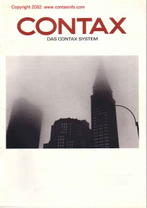 брошюра по системе Zeiss / Contax 1995г.