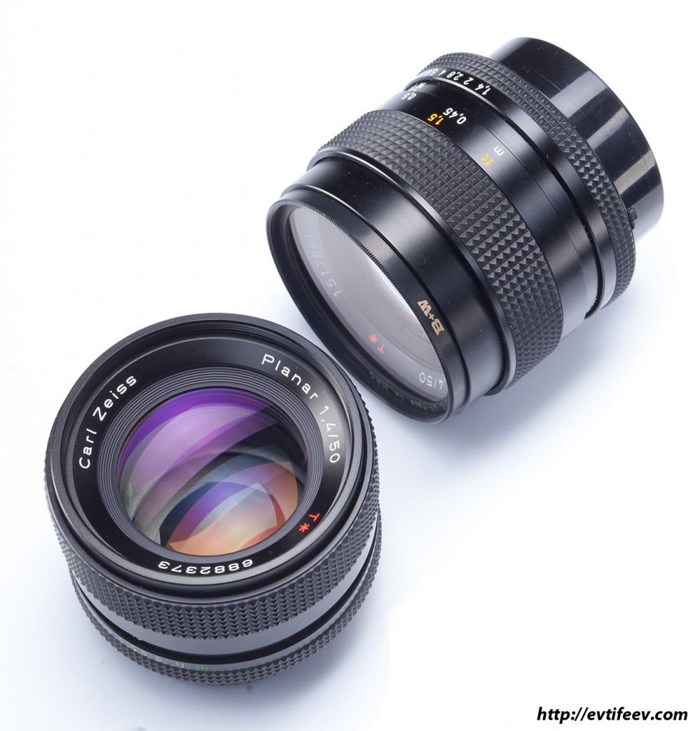Фотографии объективов Carl Zeiss Planar 50/1.4 C/Y
