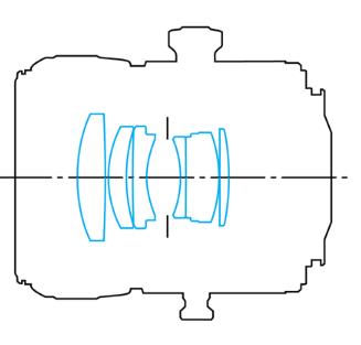 оптическая схема Canon EF TS-E 90/2.8