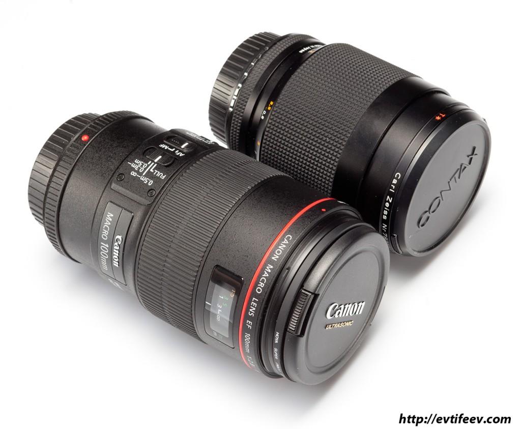 Сравнение Canon EF 100/2.8L IS Macro vs Carl Zeiss Makro-Planar 100/2.8 C/Y