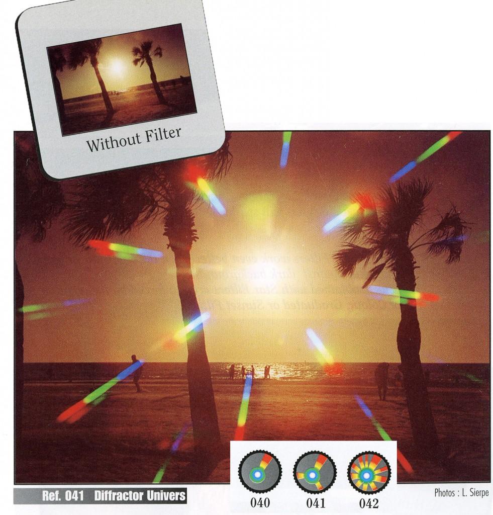 использование дифракционных фильтров Cokin