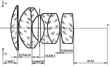 оптическая схема Гелиос 40-2 85/1.5