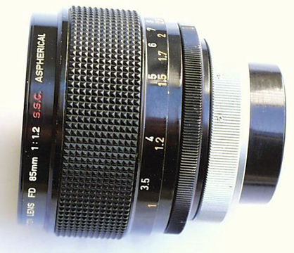 Canon Lens FD 85mm f/1.2 S.S.C. Aspherical