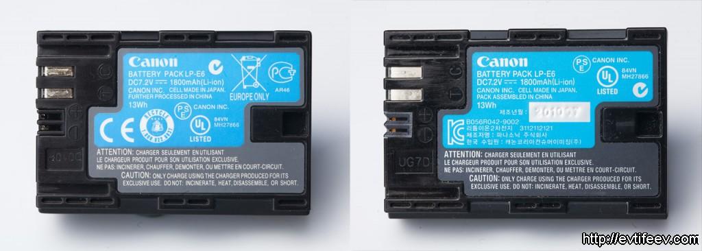 оригинальные аккумуляторы для камеры Canon 5D mark II