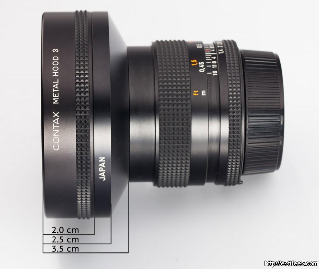 Бленда Carl Zeiss №3 + фирменное переходное кольцо 55/86