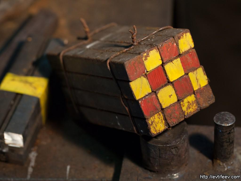 брикет из мягких и твёрдых сортов стали