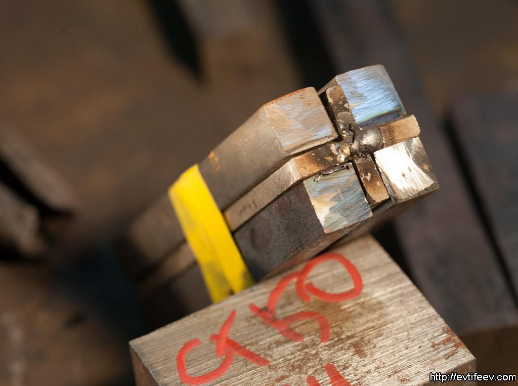 композитный брусок - основа для будущего крестового рисунка на стали