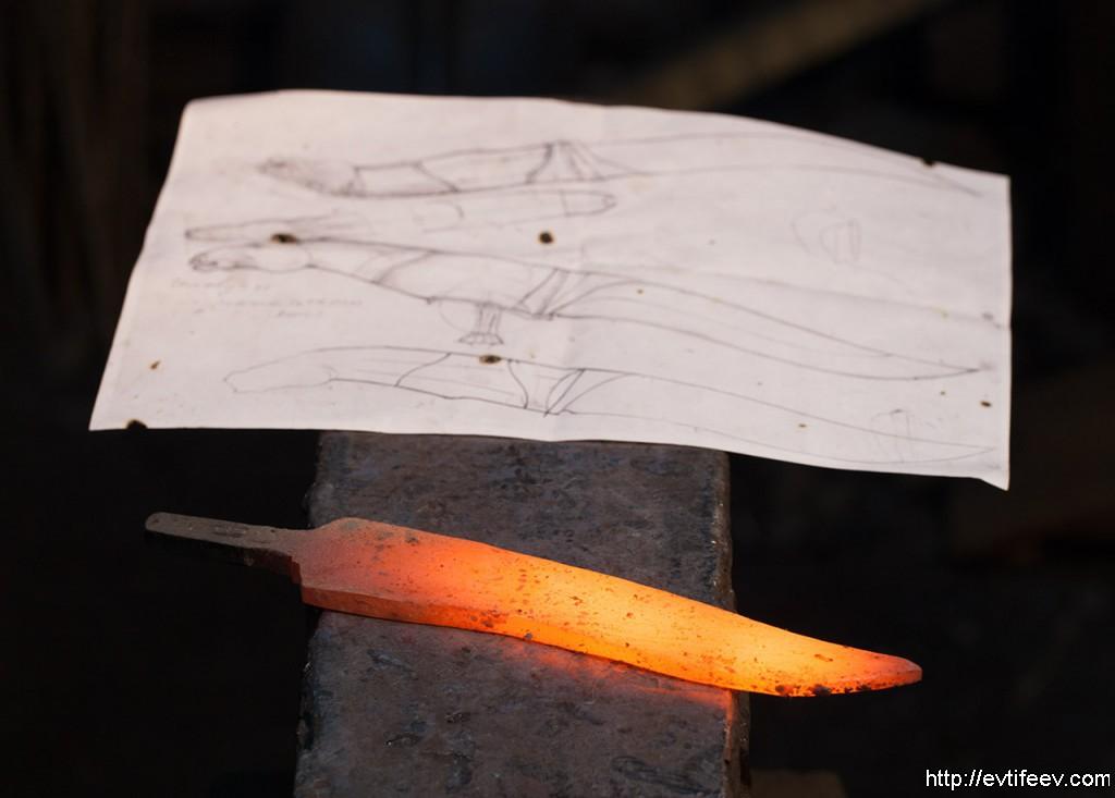 дамасская сталь, авторские ножи ручной работы