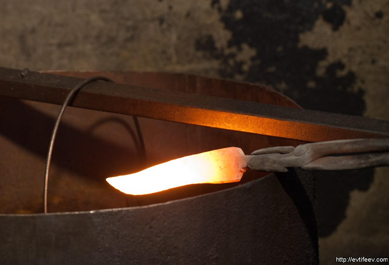 Закалка стали для ножа