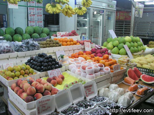 сингапур, фруктовый рынок