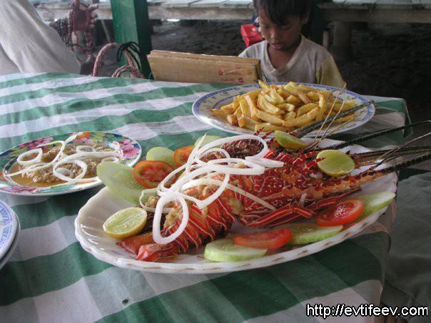 Лобстеры варёные, Индонезия