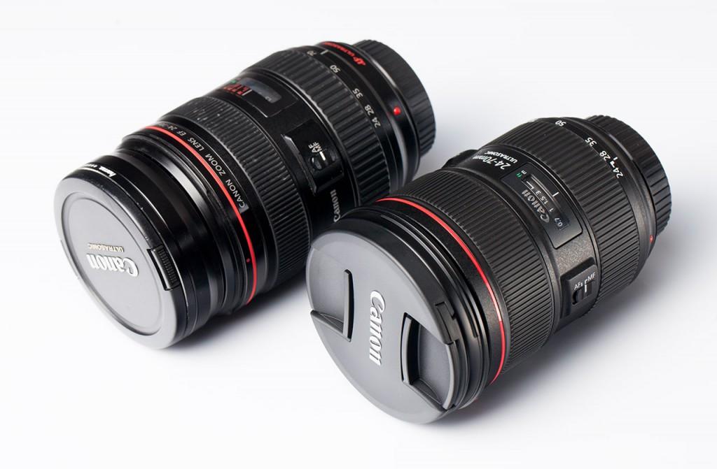 Canon EF 24-70 ver I (слева), Canon EF 24-70 II (справа)