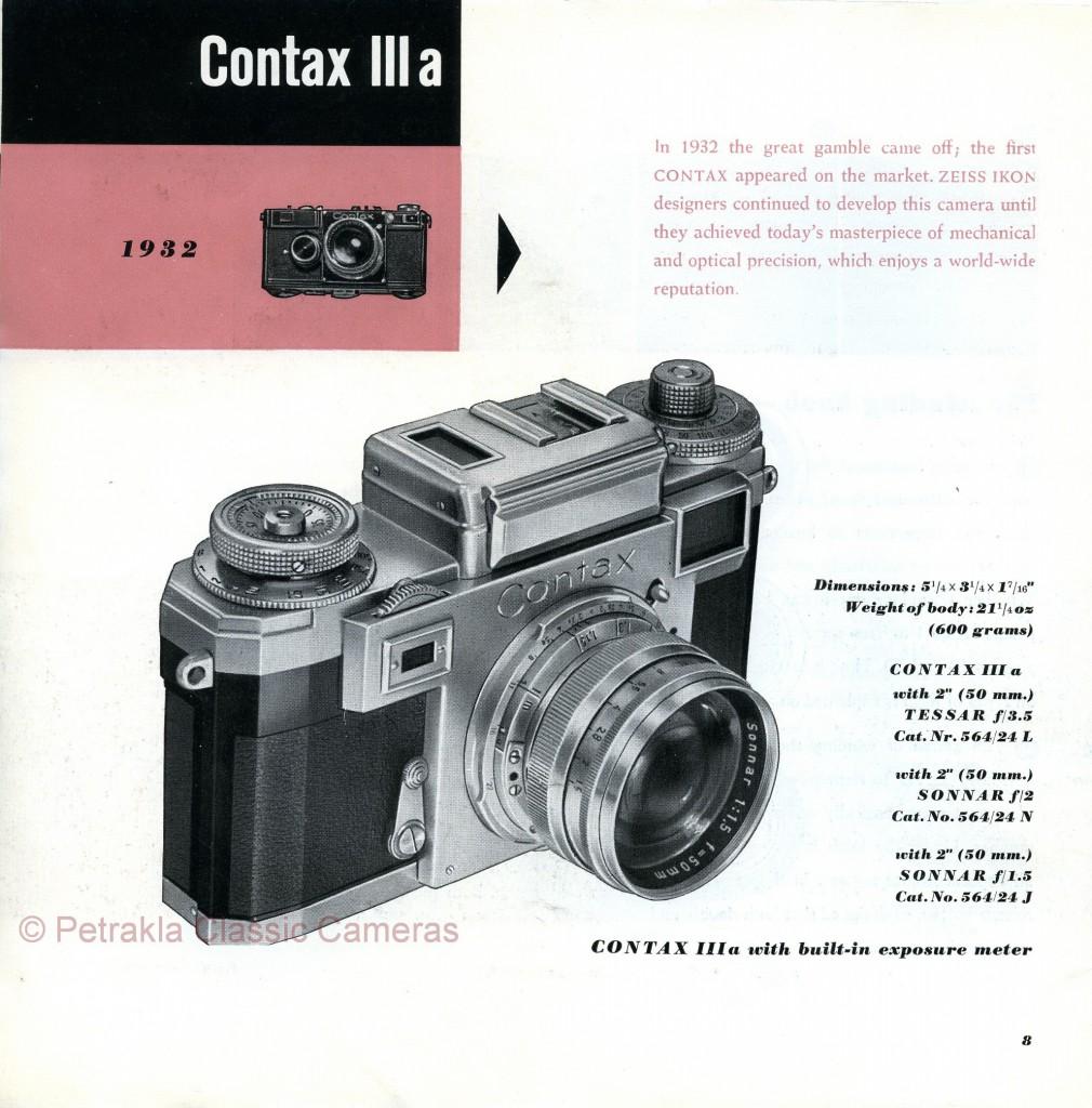 Брошюра по Zeiss Ikon Contax IIa и IIIa - в раздел История
