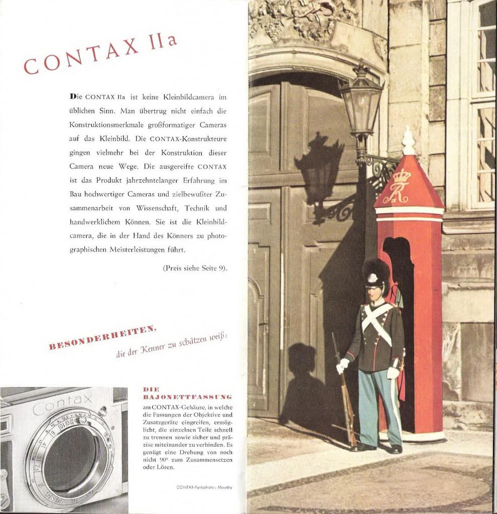Брошюра по Zeiss Ikon Contax IIa и IIIa (еще одна) — в раздел История