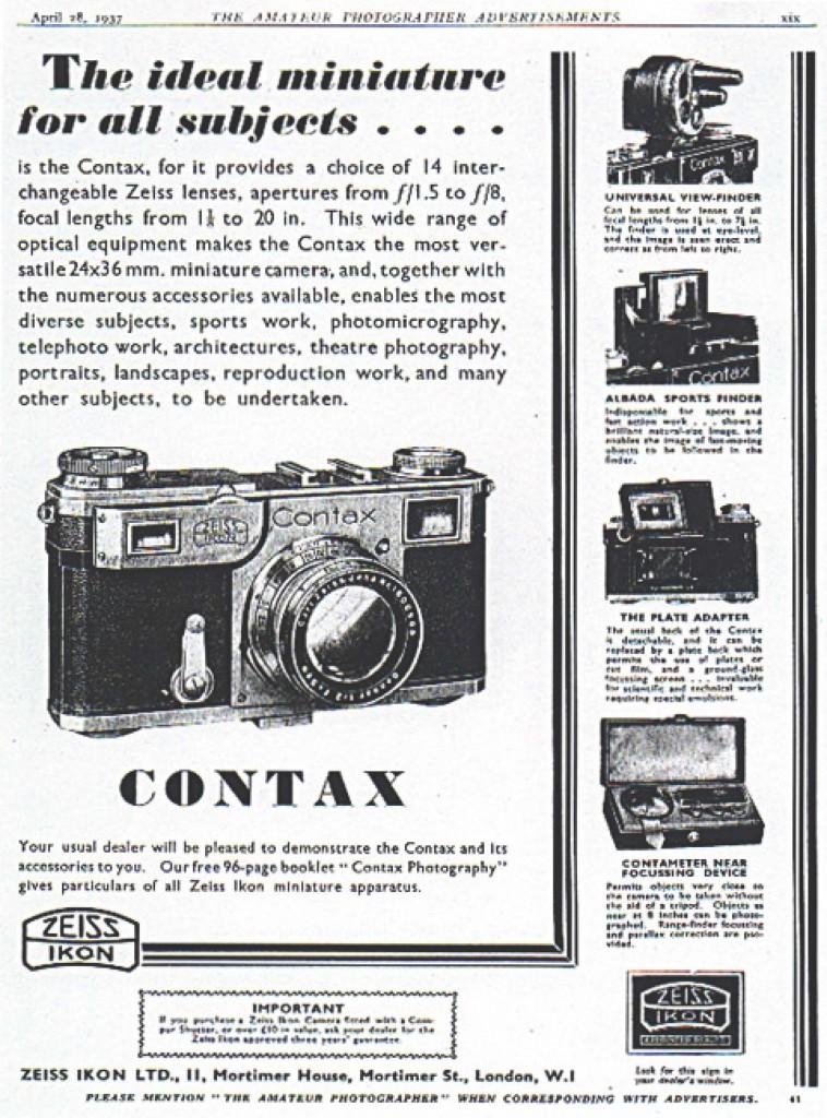 Рекламные брошюры Zeiss / Contax