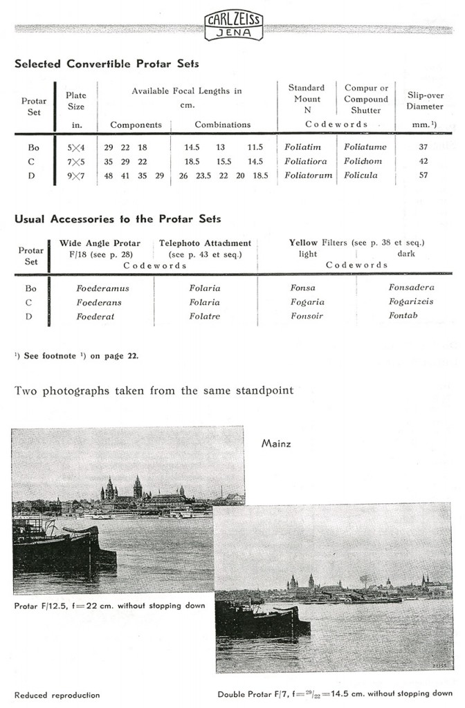 Carl Zeiss Protar - описание объектива