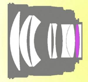 Оптическая схема Samyang 85/1.4