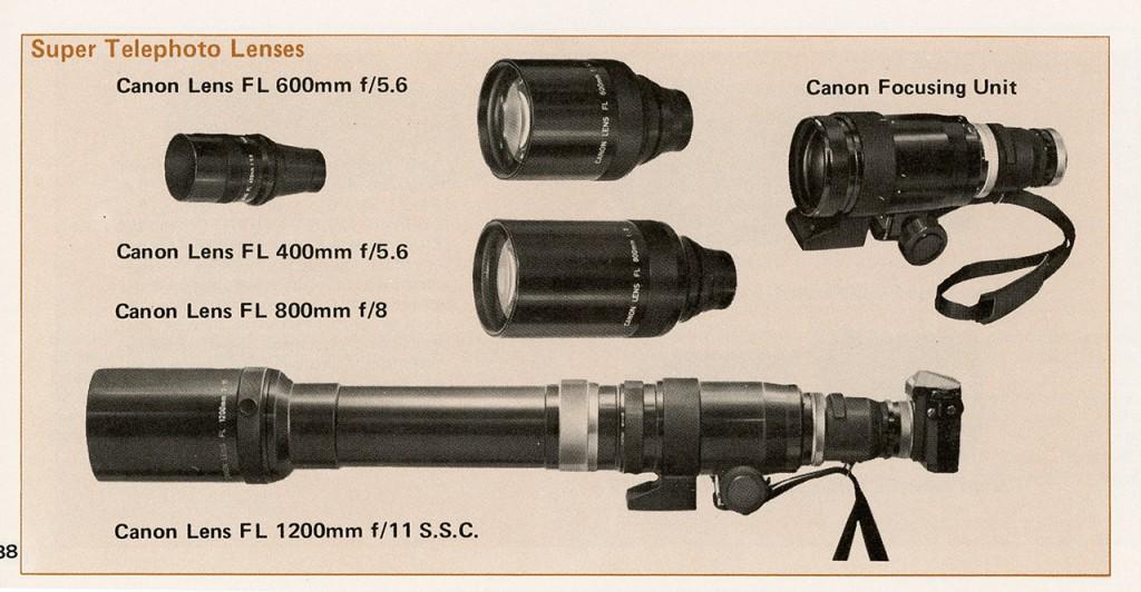 Объективы Canon FD (адаптеры, каталог и проч.)
