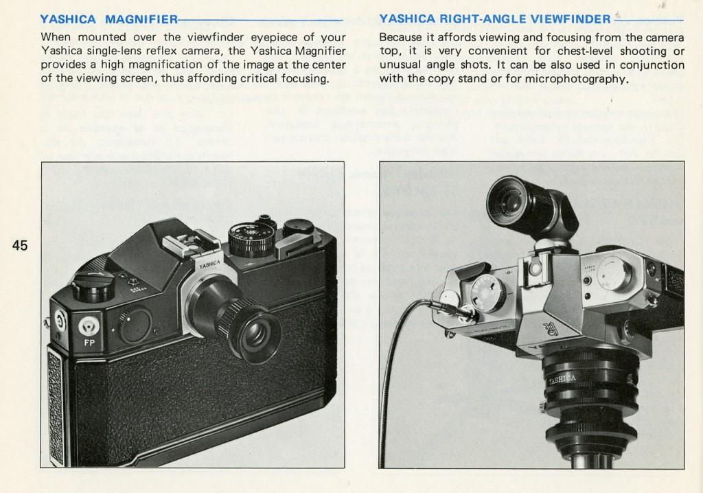 Объективы Yashica - каталог
