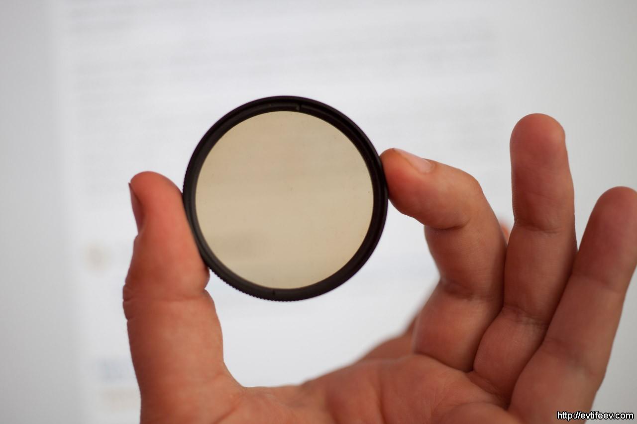 Как отличить круговой поляризационный фильтр от линейного, если нет маркировки или она вызывает сомнение?