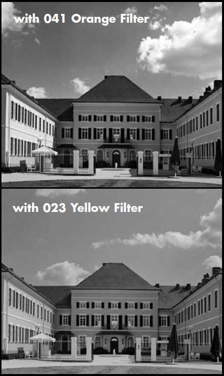 Контрастные светофильтры для чёрно-белой фотографии