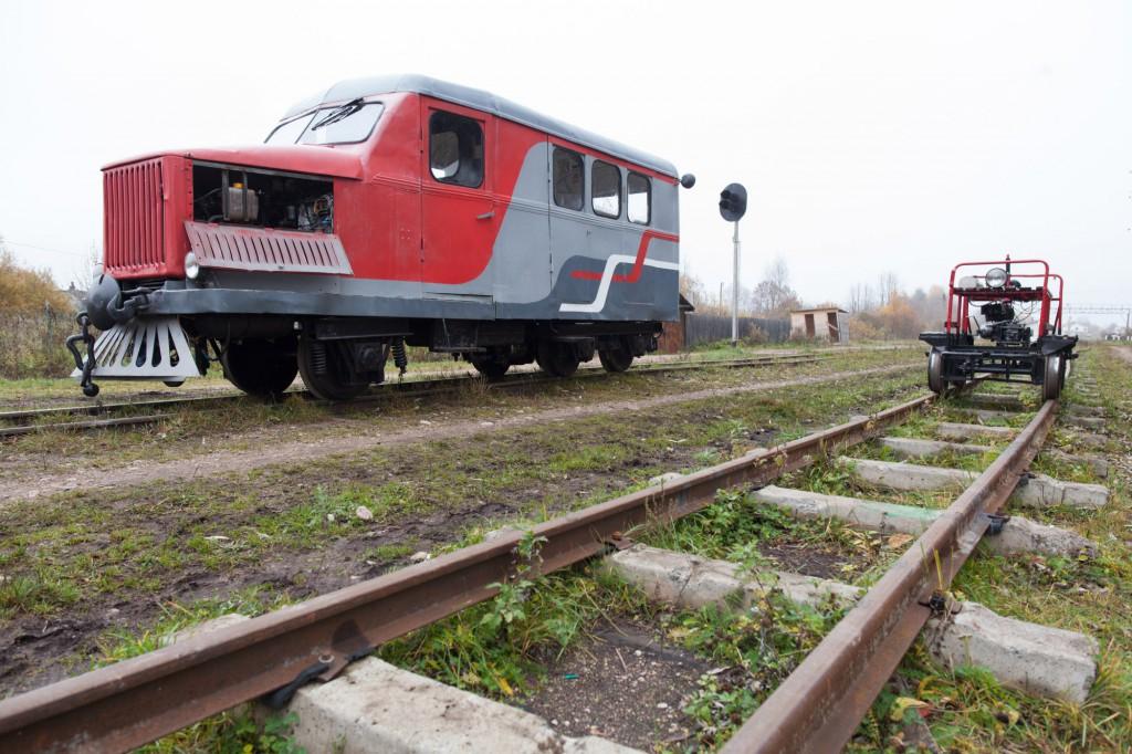 Поездка на Тёсовскую узкоколейную железную дорогу