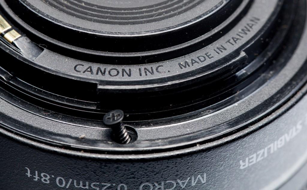 Разборка объектива Canon EF-S 18-55mm f/3.5-5.6 IS II
