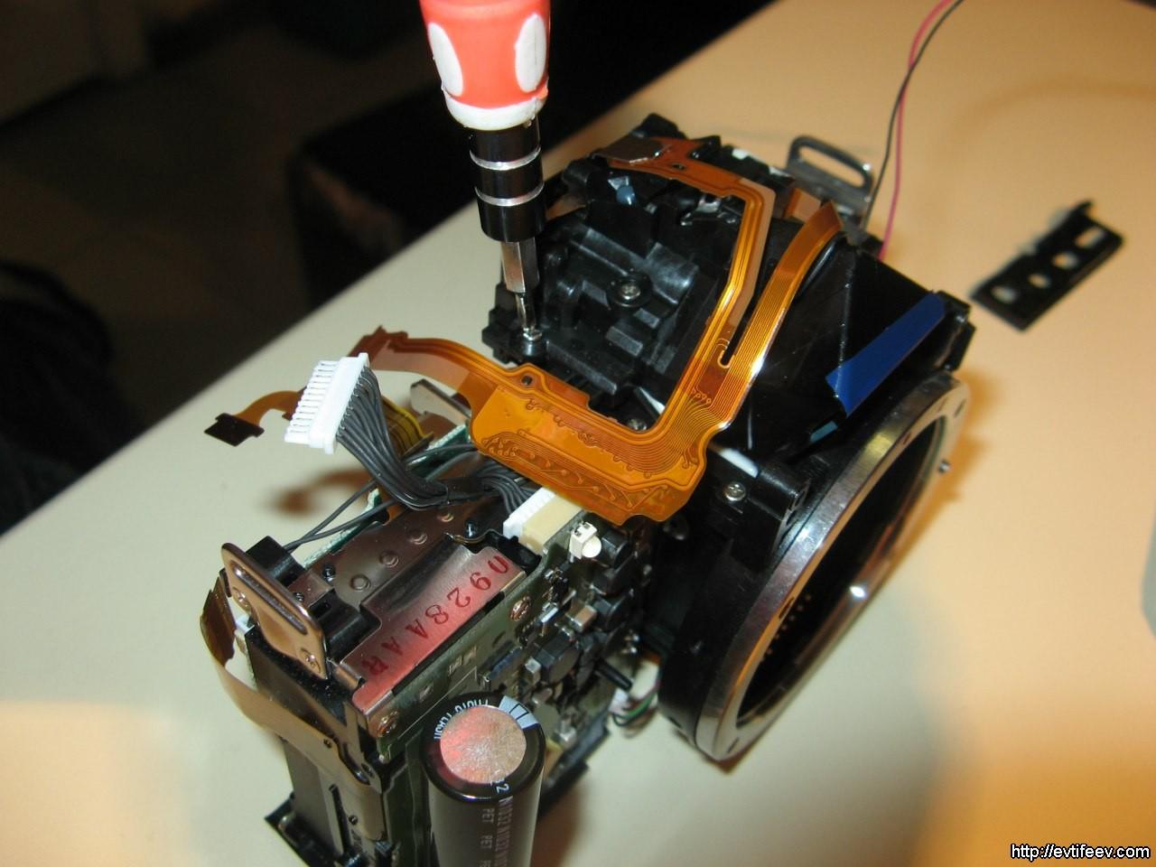 Ремонт фотоаппарата casio своими руками