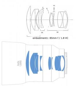 zeiss batis 85/1.8 tamron patent