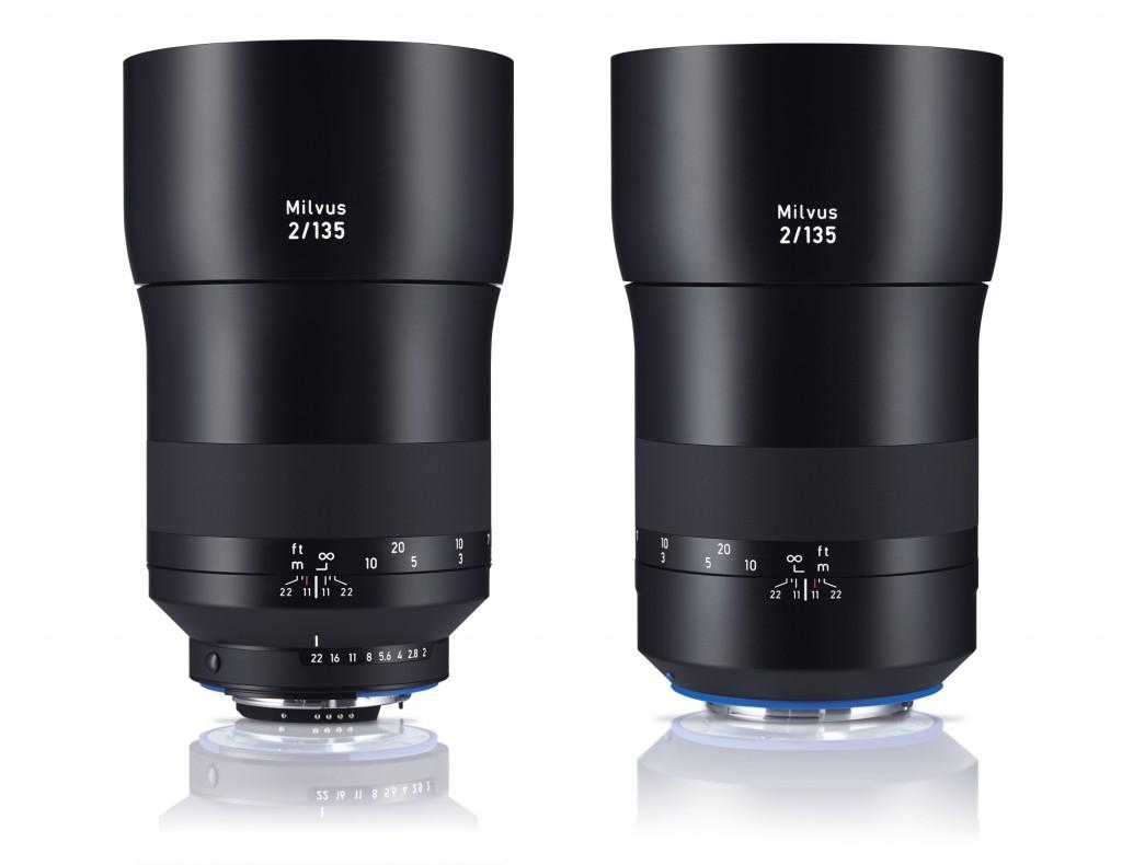 Три новых объектива ZEISS Milvus - 15/2.8, 18/2.8, 135/2