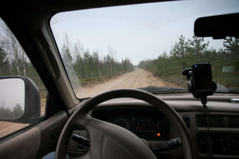 дорога вдоль высоты 65.5