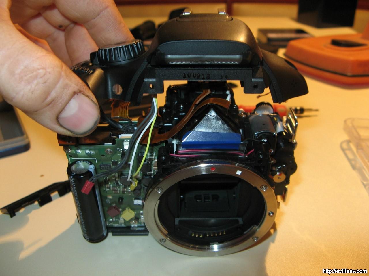 Ремонт залитого фотоаппарата